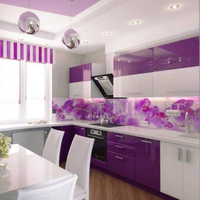 Kính màu nhà bếp
